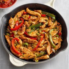 Flavorful Chicken Fajitas #beeffajitamarinade This flavorful recipe is definitely on my weeknight dinner rotation. The chicken fajita marinade in these popular wraps is mouthwatering. They go together in a snap and always get raves! —Julie Sterchi, Campbellsville, Kentucky #steakfajitarecipe