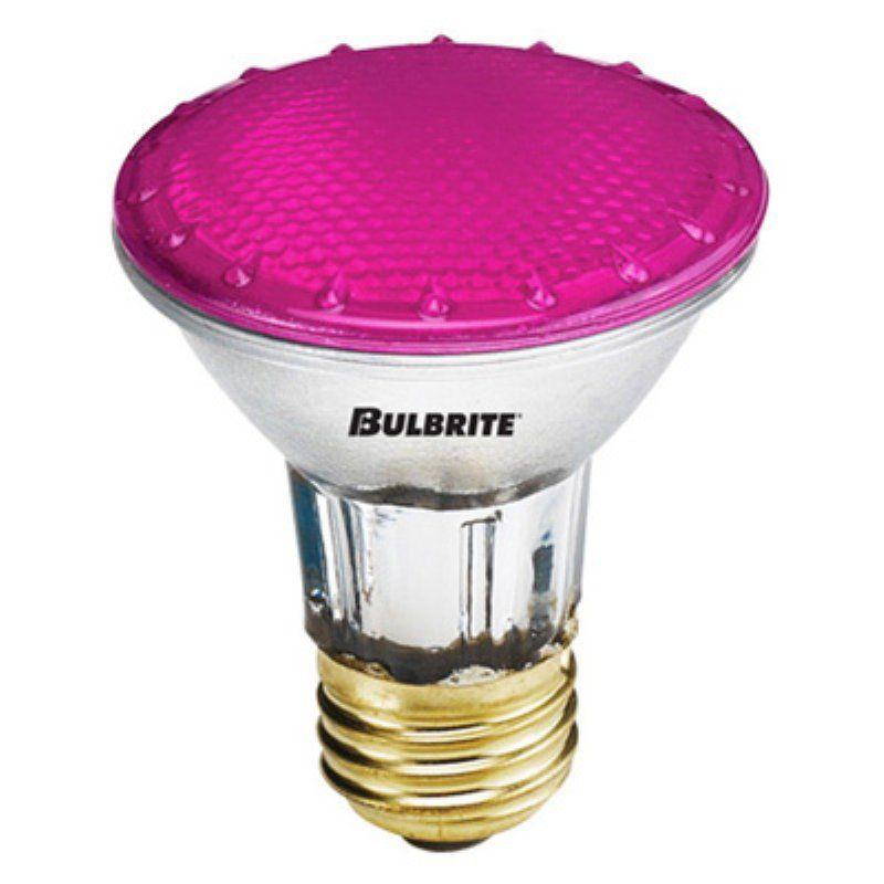 Bulbrite 50W Dimmable Halogen PAR Light Bulb 6 pk. Pink