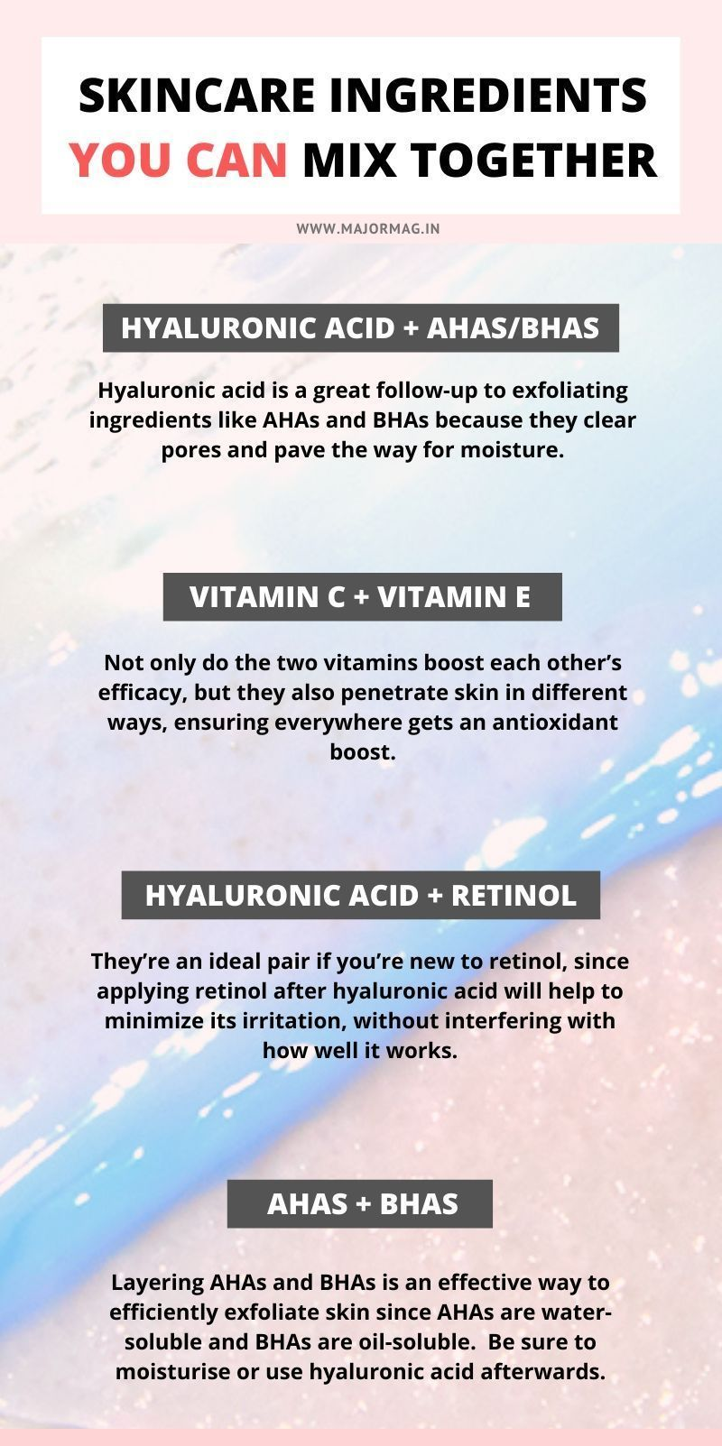 Can You Mix Powerful Skin Care Ingredients Like Retinol Vitamin C And Ahas Bhas Tog Skincare Ingredients Natural Skin Care Ingredients Dermatology Skin Care