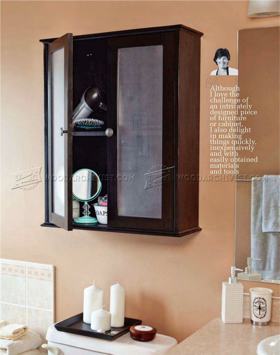 Bathroom Wall Cabinet Plans Furniture
