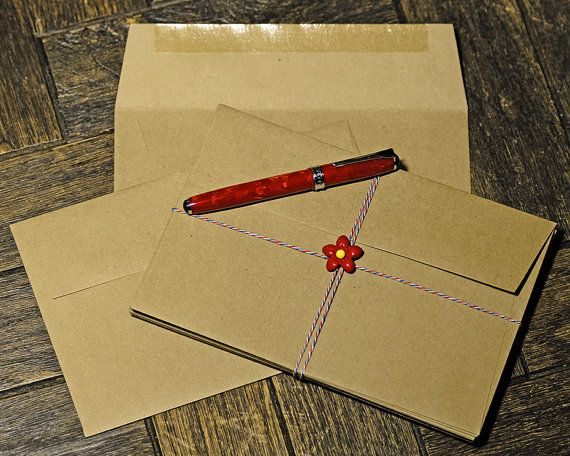 50 A9 size 8 3/4 x 5 3/4 Brown Bag Envelopes by MindtheWrap -  Outer mailing envelope for Moo and Saints greeting cards