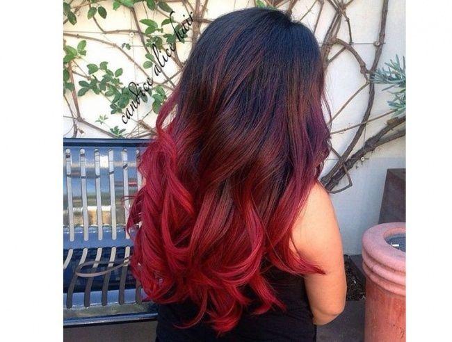 Ombré hair avec cheveux rouges 21 photos absolument