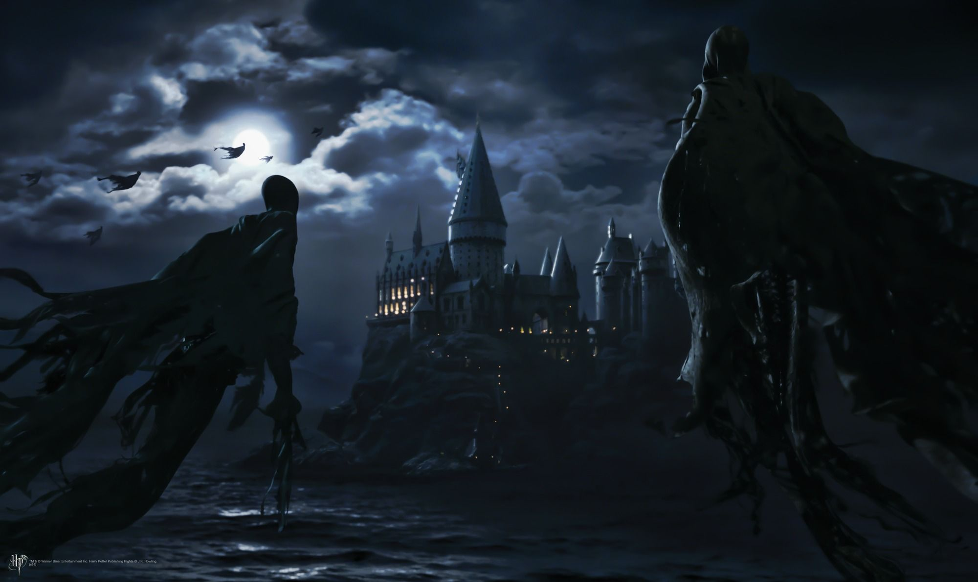 How To Paint A Mural On A Wall Dementors Attack Hogwarts Wallpaper Mural For My Kiddos