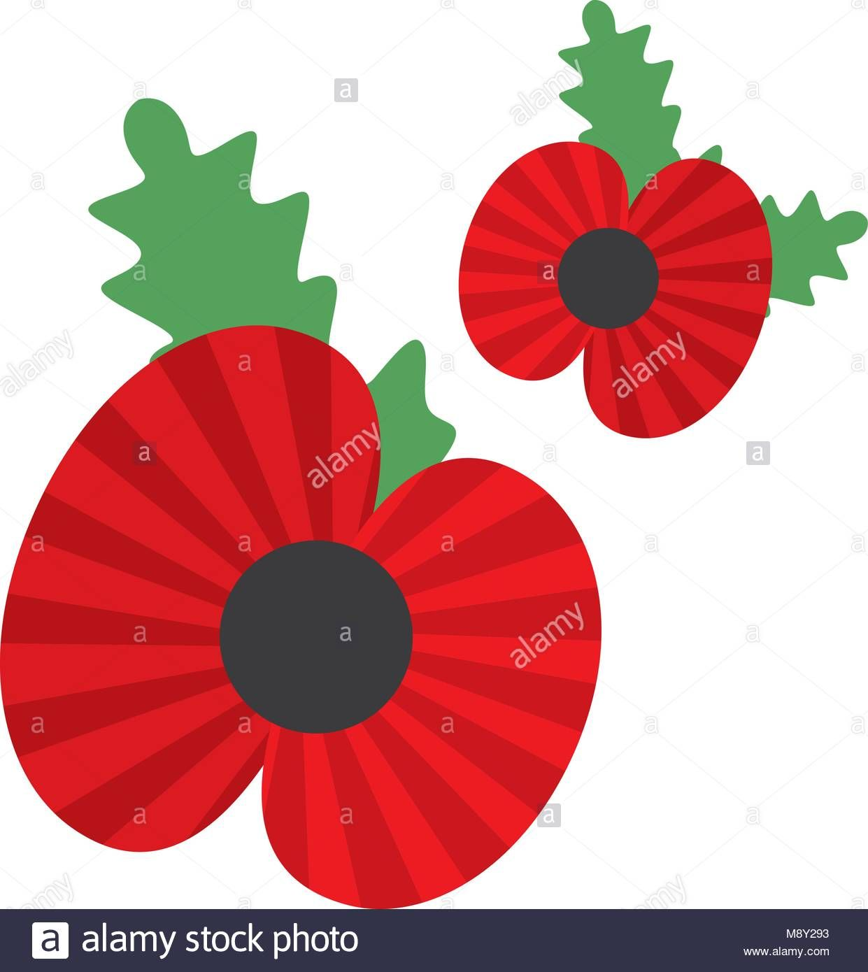 Poppy Symbol Of The Anniversary Of The World War Stock Vector Art