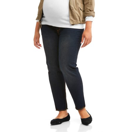 a1b545d084 Oh Mamma Maternity Demi Panel Super Soft 5 Pocket Skinny Jeans with  Released Hem -- Available in Plus Sizes