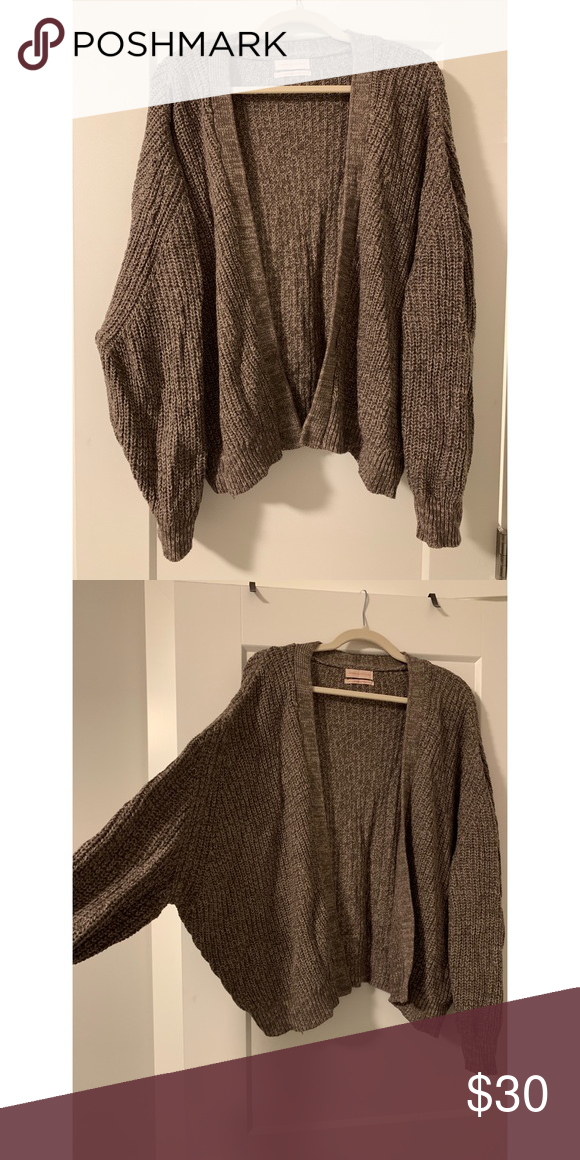 fc6af0b90fcf9 Urban Outfitters Sweaters Cardigans. Urban Outfitters brown open front dolman  cardigan ...