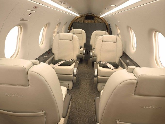 Beautiful Pilatus PC 12 Cabin
