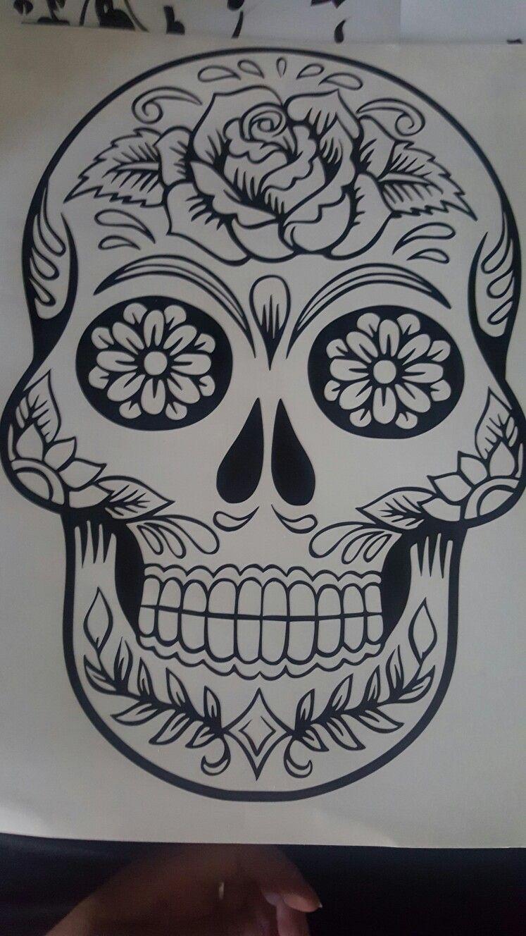 By Str8line Design Skull coloring pages, Sugar skull