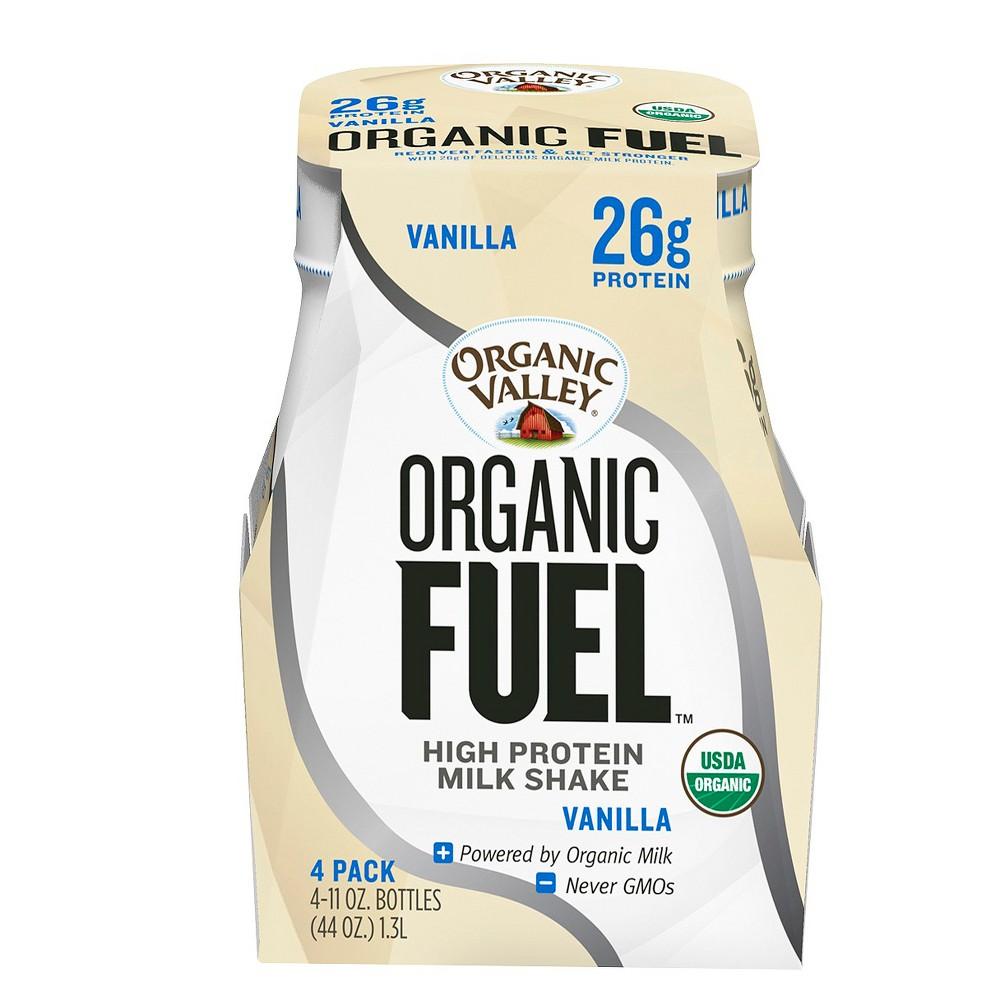 Organic Valley Fuel Vanilla Milk Protein Shake 11 oz, 4