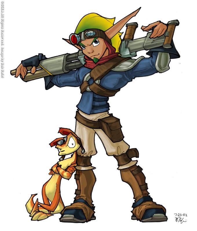 Jak And Daxter Personajes De Juegos Diseno De Personajes Dibujos Sencillos