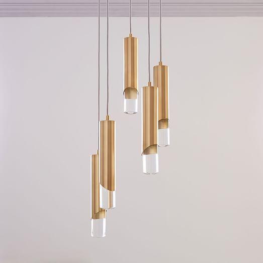 Sleeved Crystal Chandelier Westelm Modern Chandelier Modern Lighting Design Led Chandelier