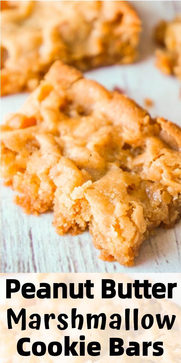 Peanut Butter Marshmallow Cookie Bars