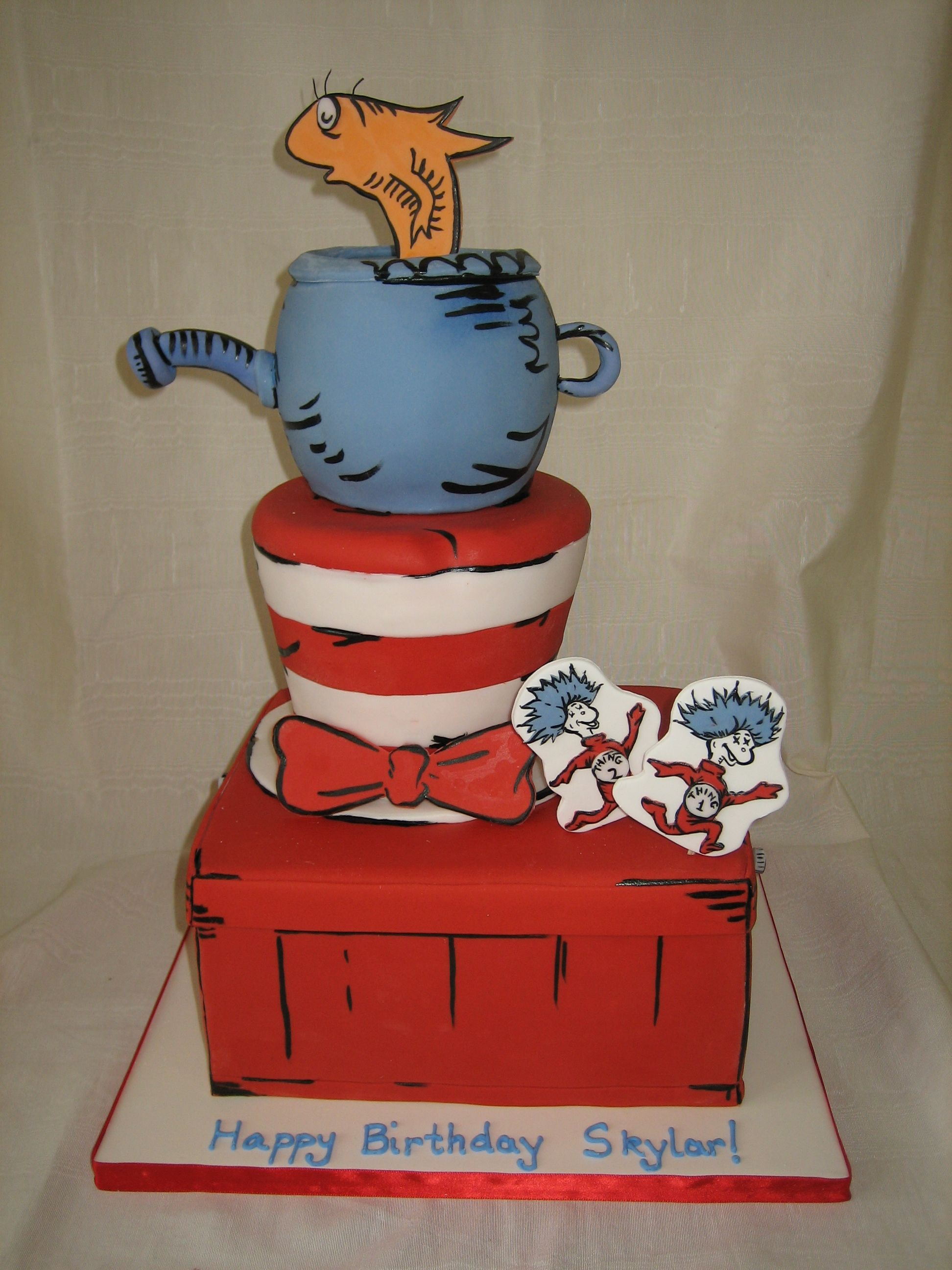 Amy beck cake design chicago il cat in the hat
