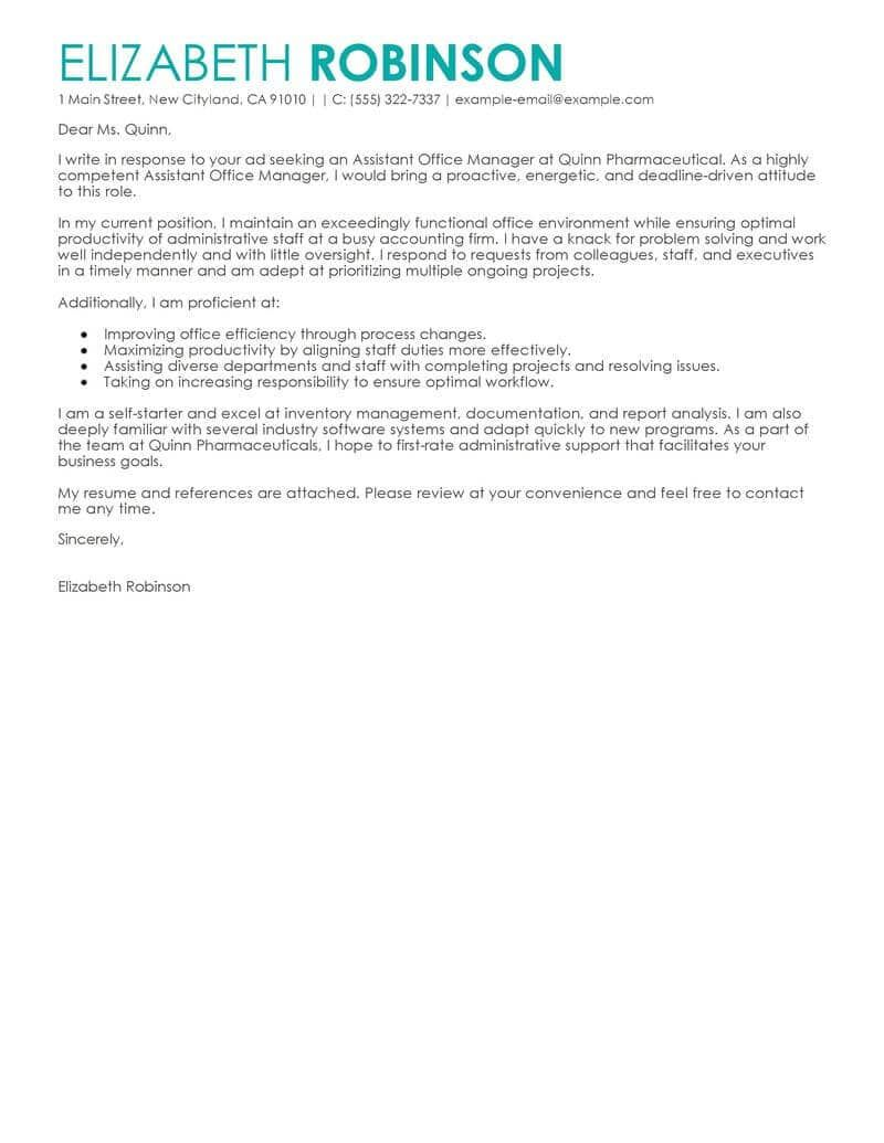 30 Great Cover Letters Best Secretary Letter Examples Livecareer