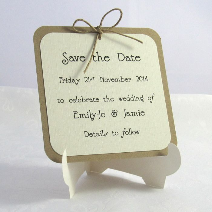 Polka Dotty Handmade Wedding Save the Date