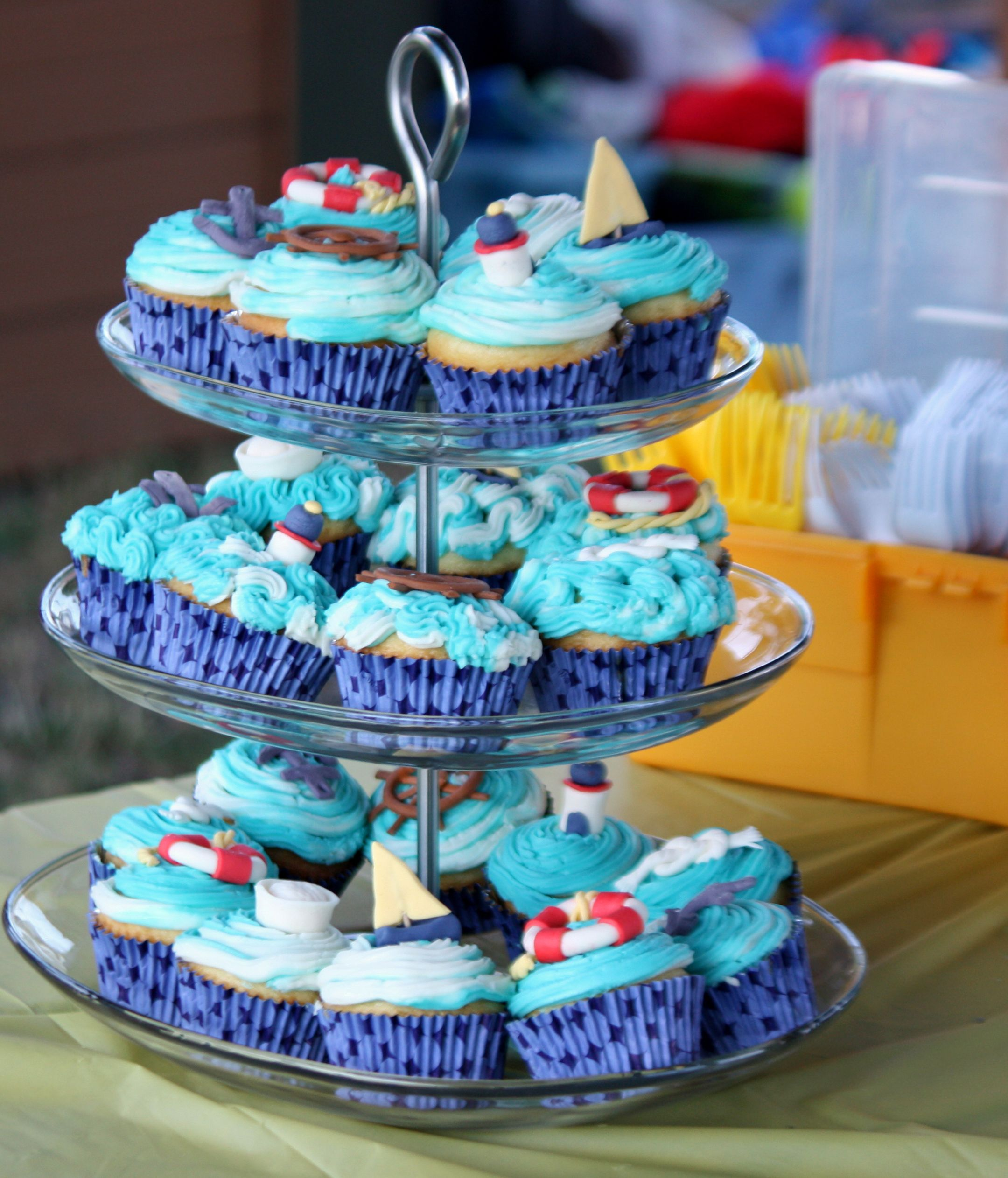 Nautical theme cupcakes sugar jewels cakes confections - Jewel cake decorations ...