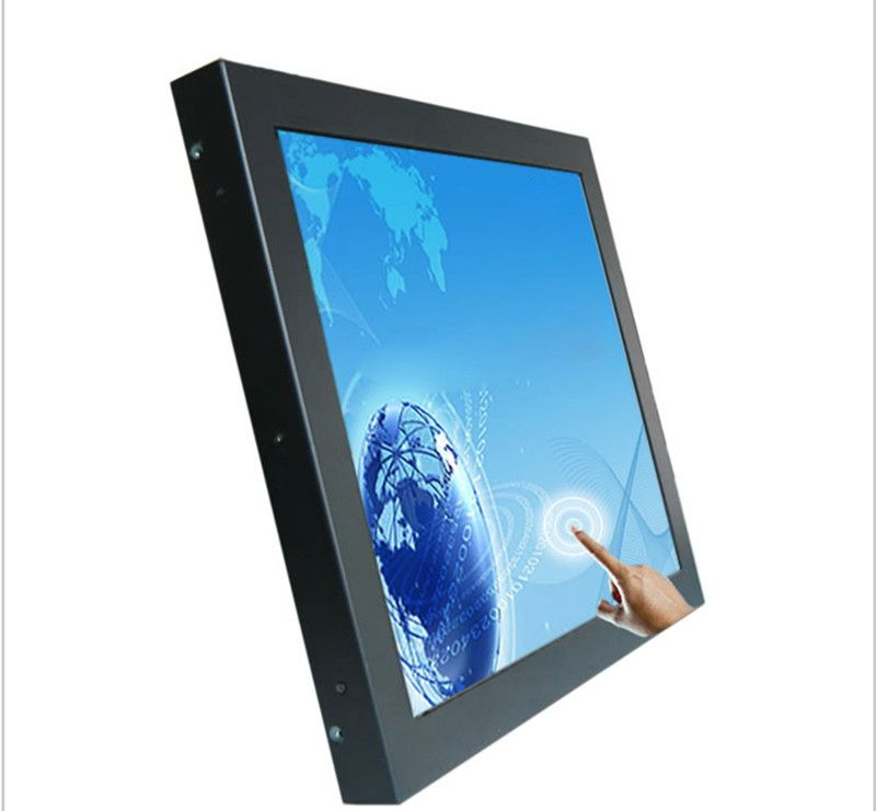 17 Inch 4 Wire Resistive Touch Monitor Desktop Industrial Touch Screen Monitor Lcd Touch Screen Monitor Frames On Wall Open Frame Frame Stand