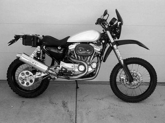 A Harley Sportster dirt