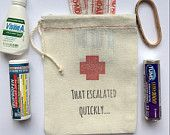 Hangover Kit Bags That Escalated Quickly Set by PaperPeonyDesigns