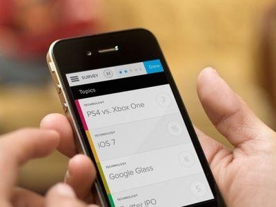 Survey App (With images) App, Mobile app, App design