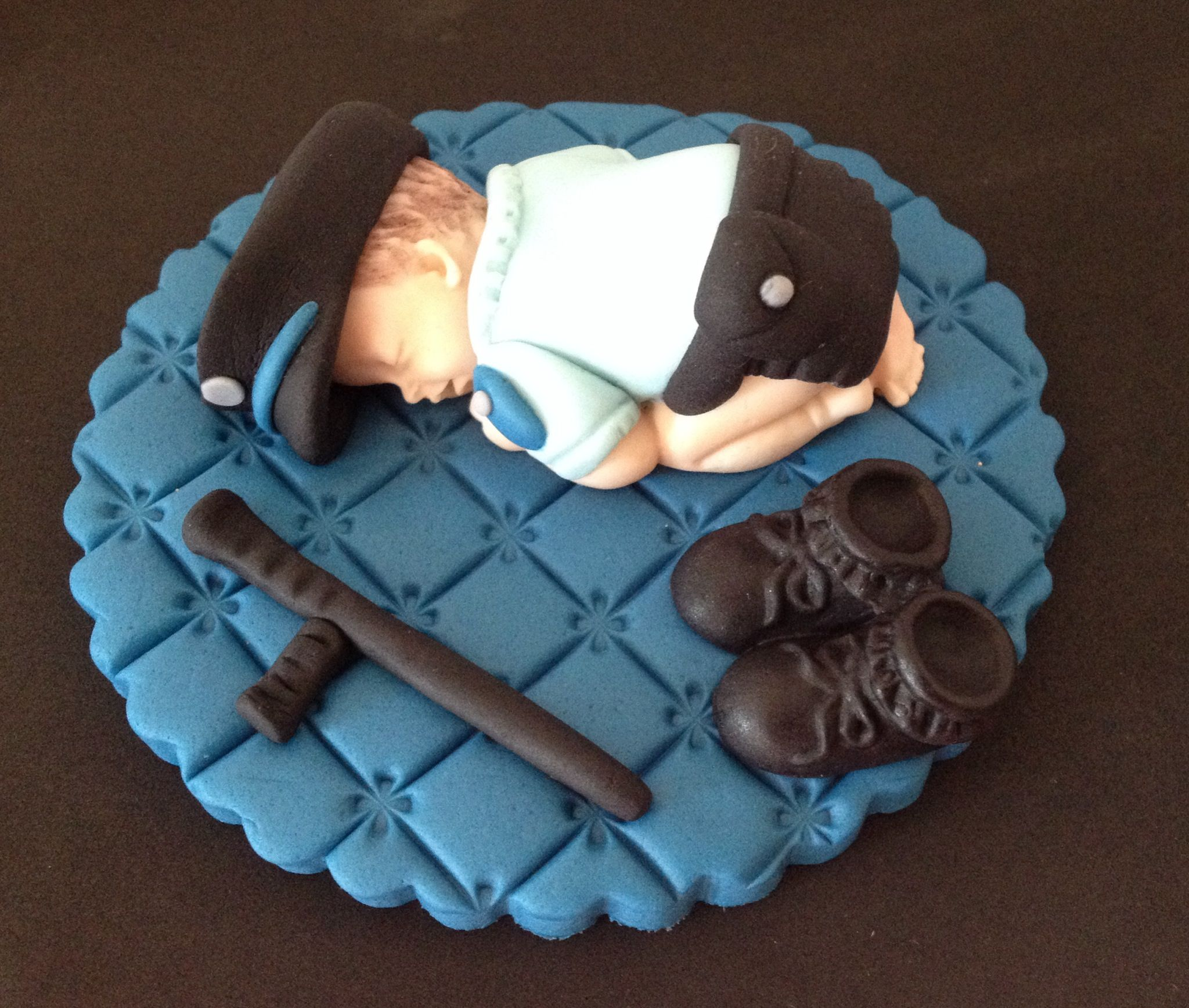 Fondant Police Baby Cake Topper By Evynisscaketopper On Etsy Com Police Baby Baby Cake Baby Cake Topper