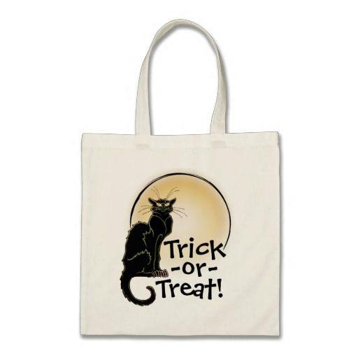Halloween Black Cat & Moon Trick-or-Treat Bag - 2