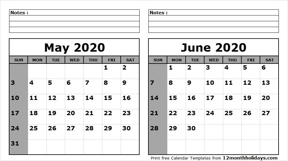 April May June 2020 Calendar Blank Calendar May June 2020 | 2018 Calendar | 2021 calendar, 2018