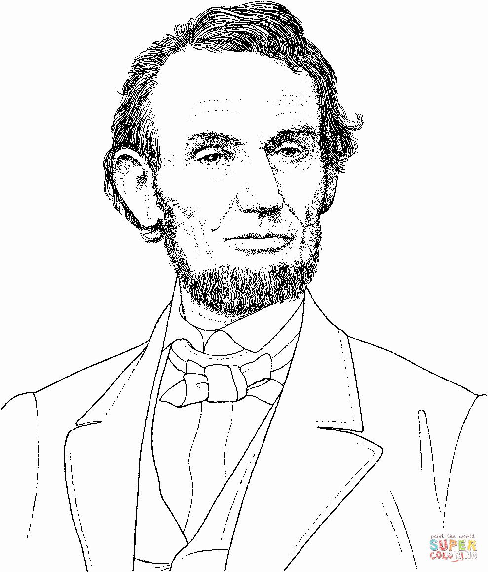 Abraham Lincoln Coloring Page Lovely President Abraham Lincoln Portrait Coloring Page In 2020 Abraham Lincoln Coloring Pages Lincoln