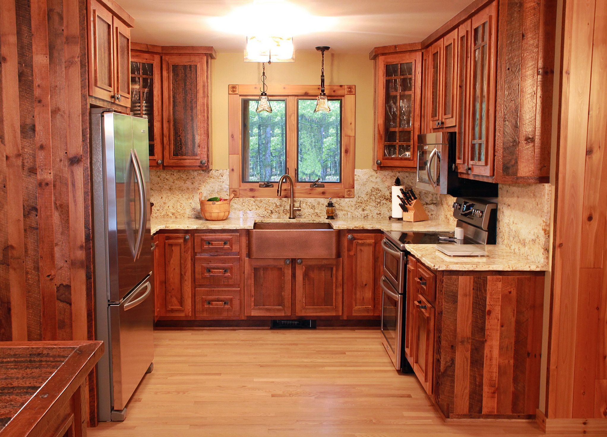 This charming rustic cabin s kitchen is made from 100 year