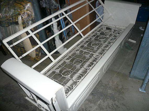 Vtg Metal Glider Sofa Spring Seat And