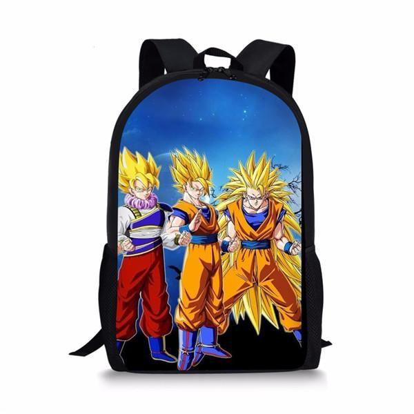 New Anime Dragon Ball Vegeta Son Girls Boys School Backpack Kids Gift Book Bag