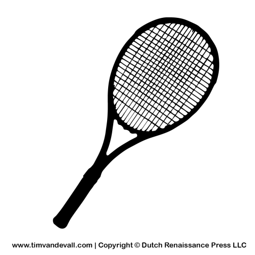 Tennis Racket Silhouette Stencil And Outline Clipart Tennis Racket Tennis Silhouette Stencil