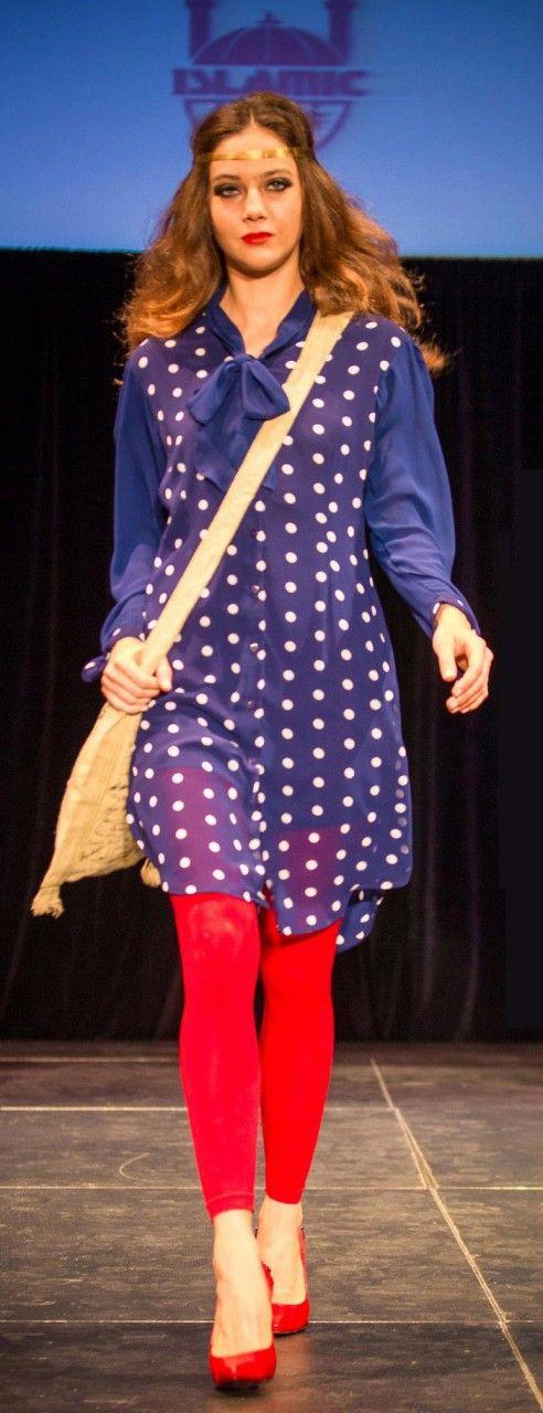 Modern Mary polka dot long blouse!