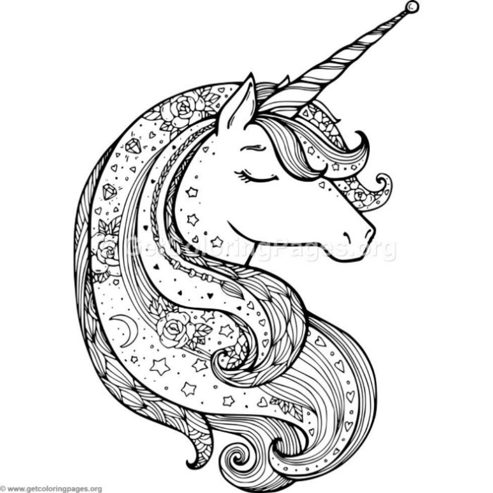Zentangle Unicorn Coloring Pages Getcoloringpages Org Unicorn Coloring Pages Animal Coloring Pages Unicorn Pictures