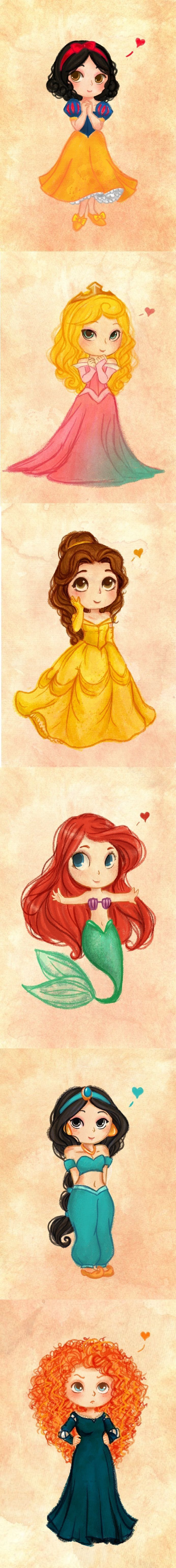 Easy Cartoon Drawings Of Disney Characters Disney Princess