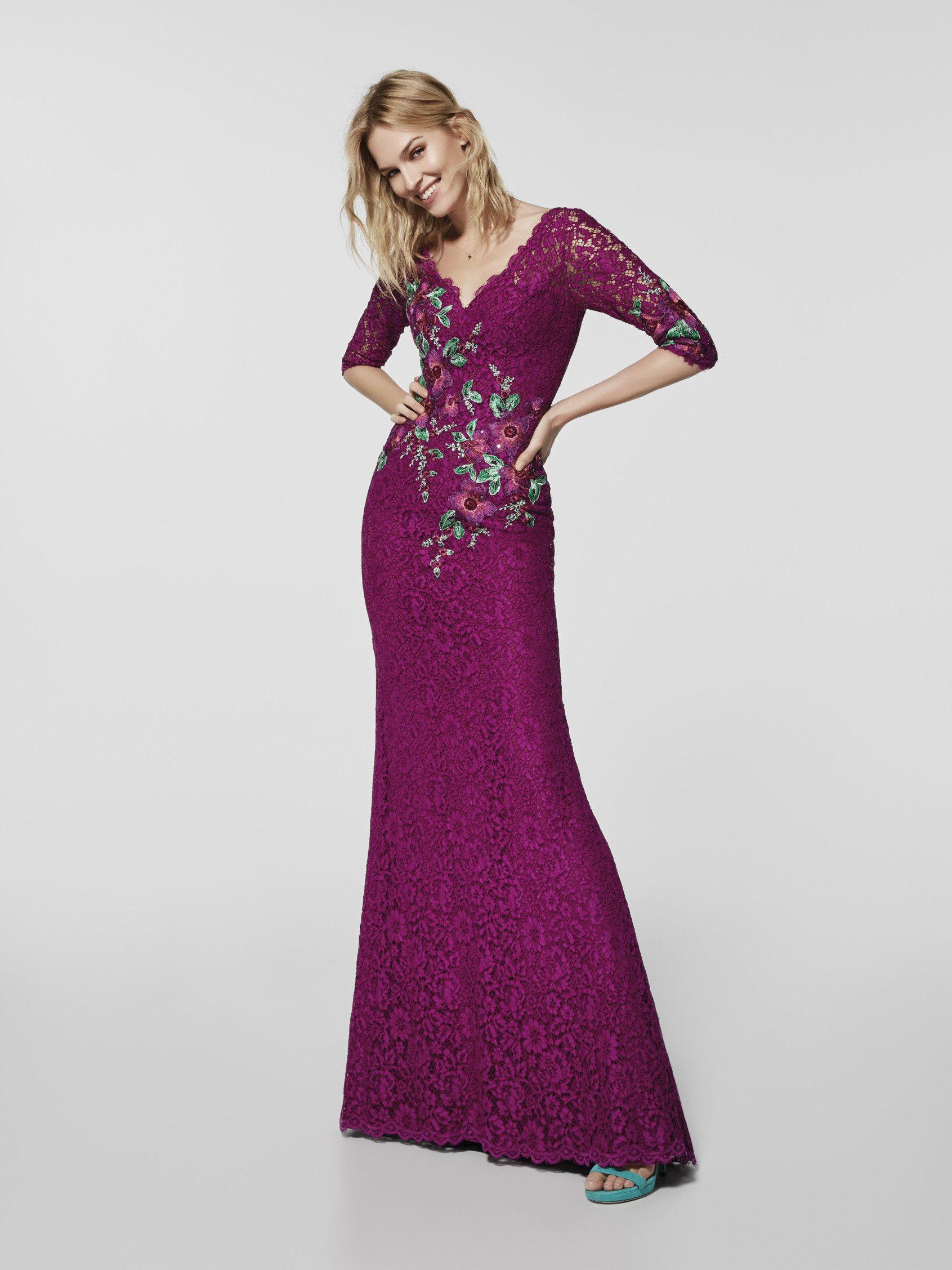 Foto vestido de fiesta rosa (62078) | pronovias | Pinterest ...
