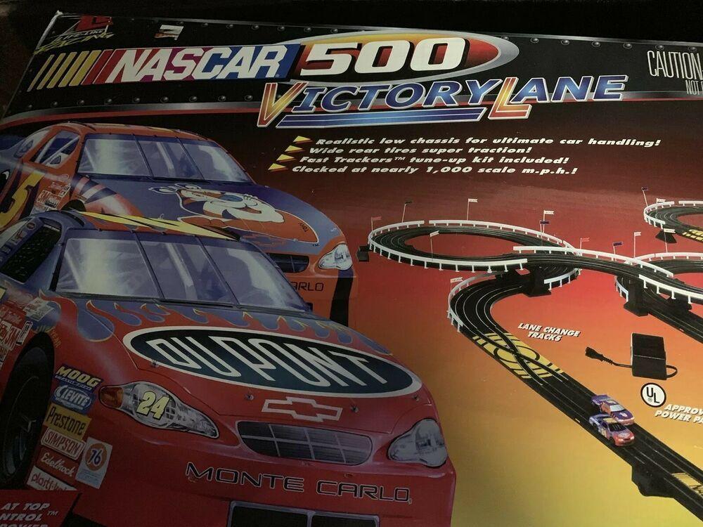 Nascar 500 Victory Lane Slot Cars Race Tracks W Two Original Slot Car Tested Lifelike Slot Car Race Track Slot Car Racing Sports Cars