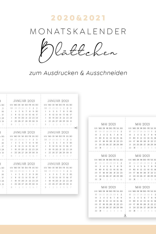 Monatskalender 2021 Mit Kw Monatsschnipsel 24er Set 20 21 Zum Ausdrucken In 2020 Kalender Zum Ausdrucken Kalender Vorlagen Kalender