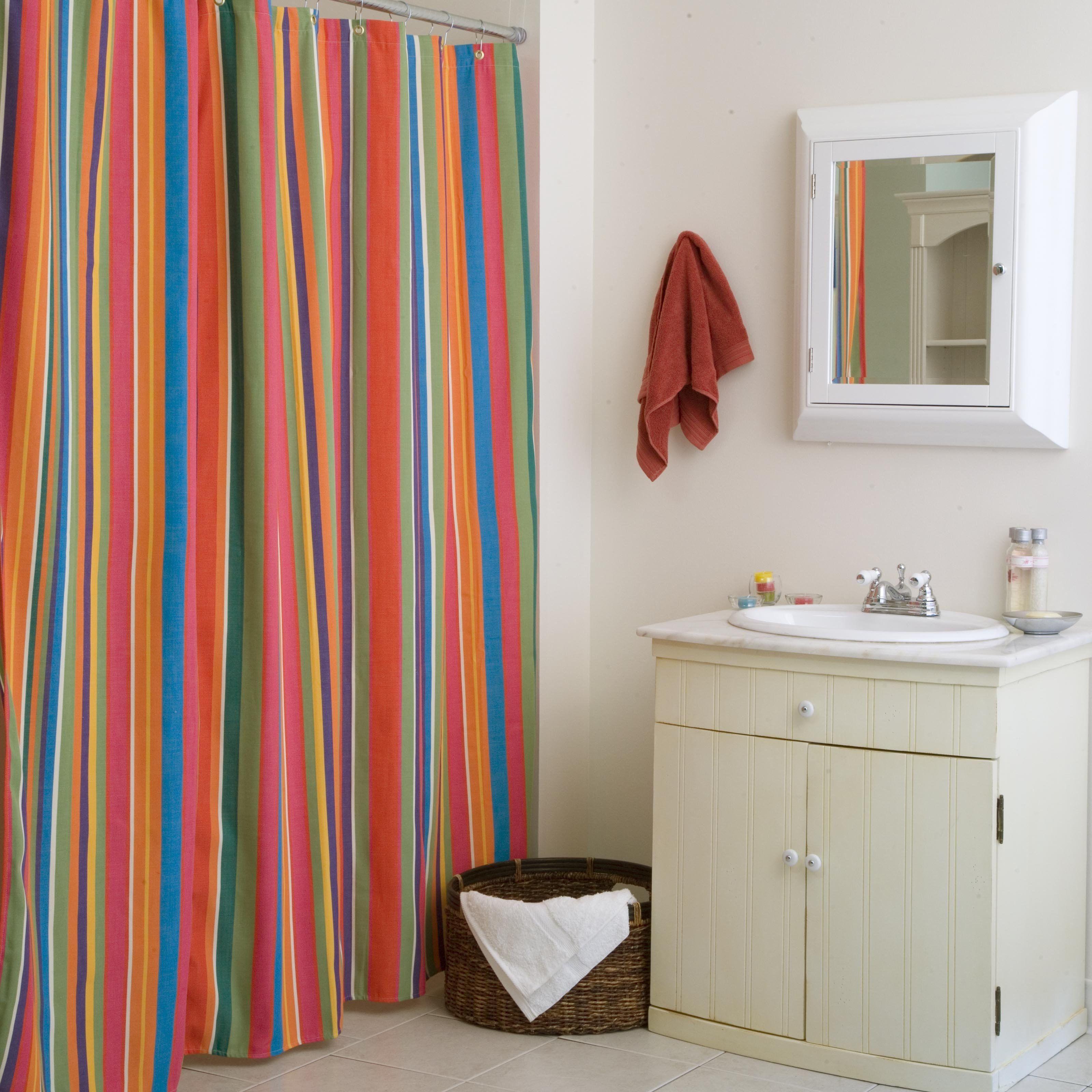 Red Chevron Stripe Shower Curtain | http://legalize-crew.com ...