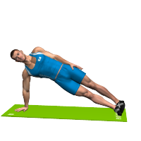 SIDE PLANK ON ARM