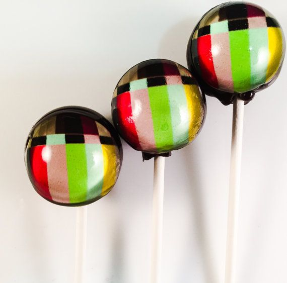 6 Jumbo TV Signal Hard Candy Lollipops by LIQNYC on Etsy