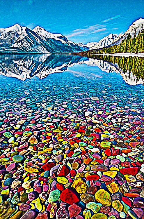 Colorful Pebble S Lake In Glacier National Park Montana Pics