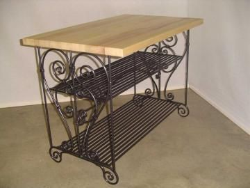wrought iron kitchen island - Google Search | kitchen | Pinterest ...