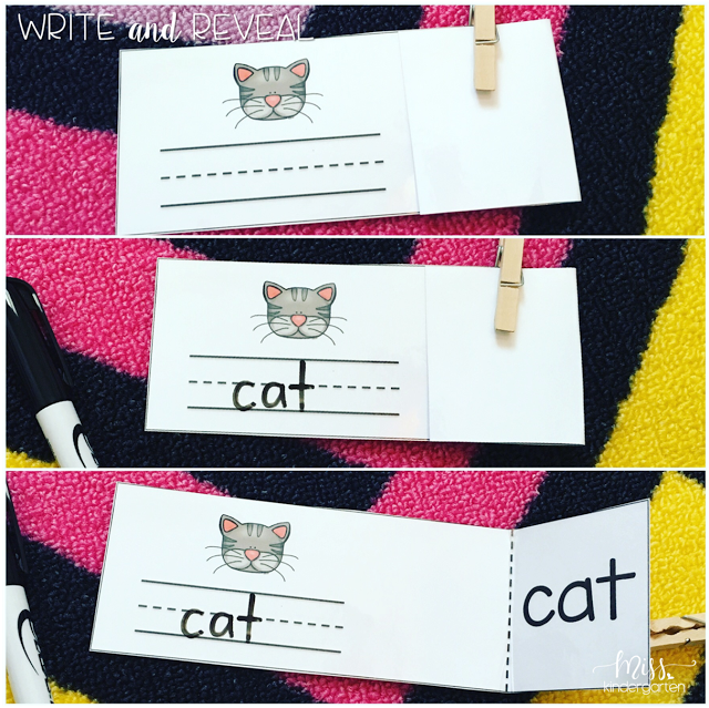 Blending CVC Words With Read And Reveal Cards