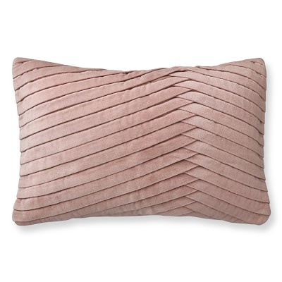 Blush Pink Pillow Cover.Black Accent