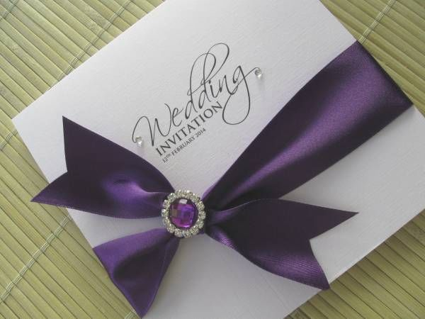 Cadbury Purple Wedding Invitations: Details About Cadburys Purple Wedding Invitation With