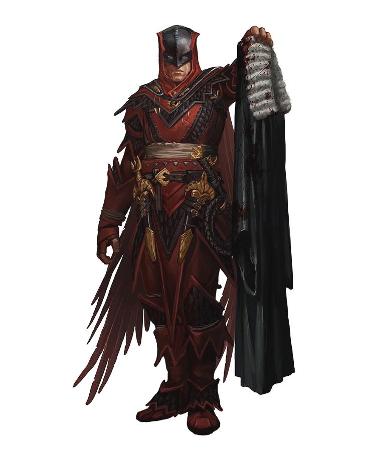 Male Human Iconic Vigilante - Pathfinder PFRPG DND D&D 3 5