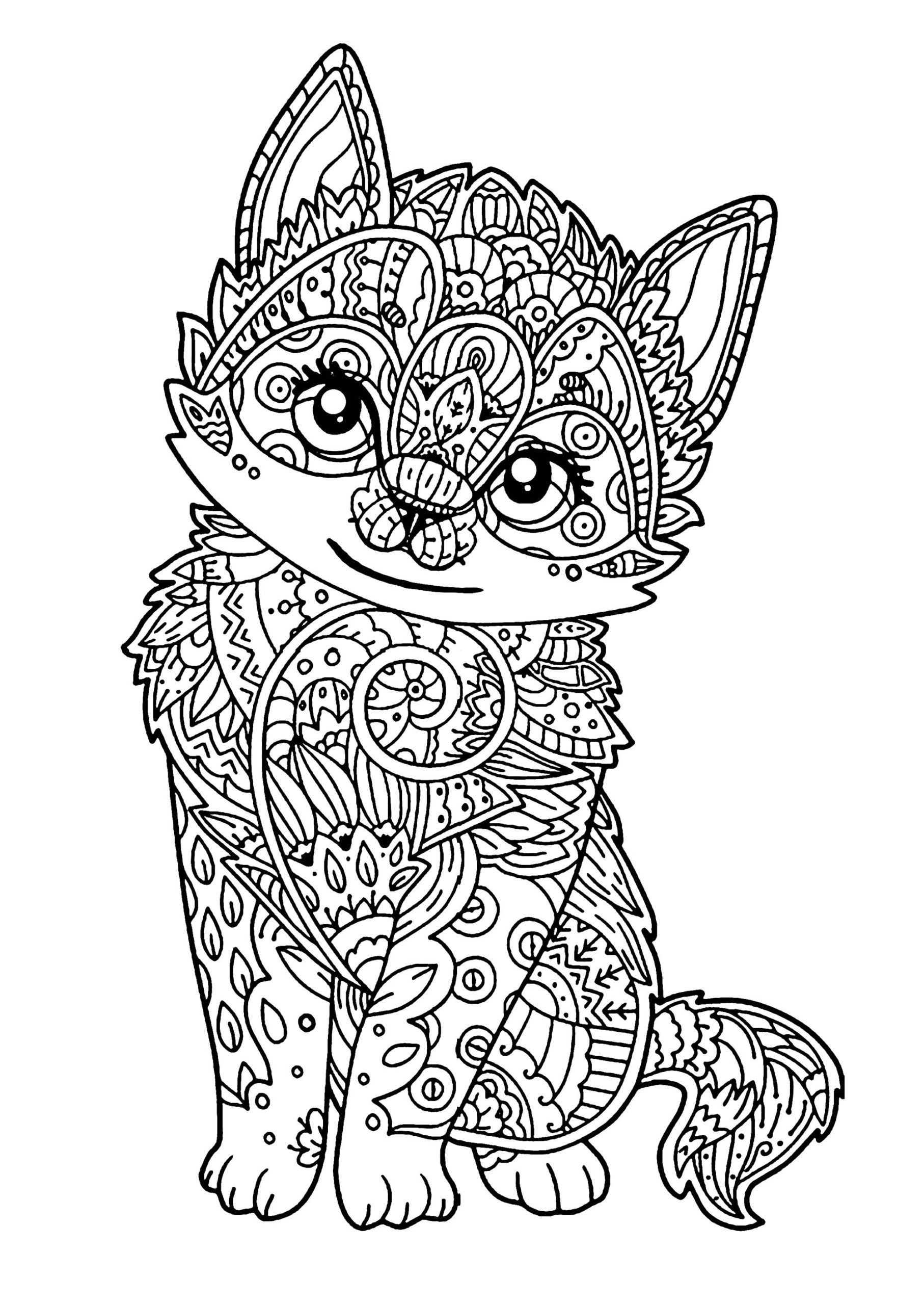 Unicorn Kitty Coloring Page Youngandtae Com Kitty Coloring Cat Coloring Page Animal Coloring Pages