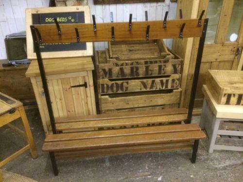 Cloakroom Coat Pegs Hooks Bench Retro Vintage Old School Industrial Retro Vintage Coat Pegs Peg Hooks