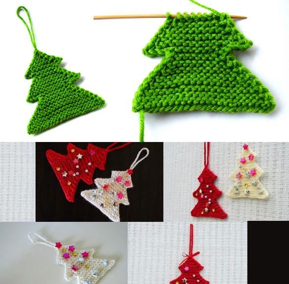 Knitting Pattern Christmas Tree: Knitted Christmas Tree. My Family LOVED These!! Great